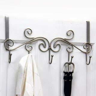 Satin Nickel 5-hook Over the Door Hanger