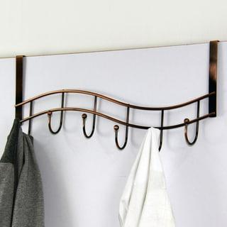 Wave Oil Rubbed Bronze 6-hook Over-the-Door Hanger