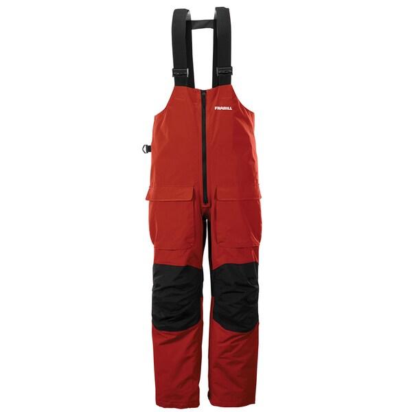 Frabill f2 surge red rain suit bib 16161992 overstock for Ice fishing bibs sale