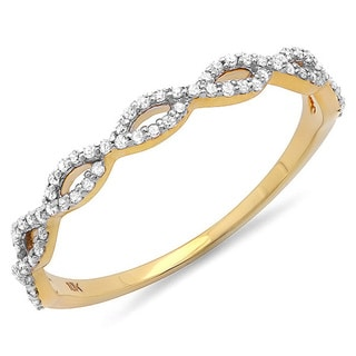 10k Yellow Gold 1/5ct TDW Braided Diamond Band Ring (I-J, I2-I3)