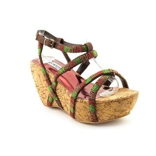 Naughty Monkey Women's 'Gettin Up' Fabric Sandals (Size 8 )