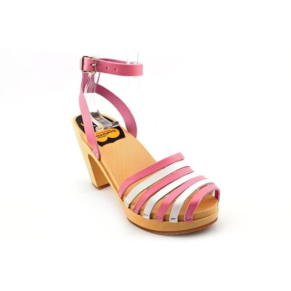 Swedish Hasbeens Women's 'Striped Beach' Man-Made Sandals
