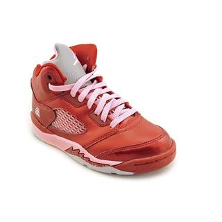 Jordan Girl (Youth) '5 Retro (GS)' Man-Made Athletic Shoe