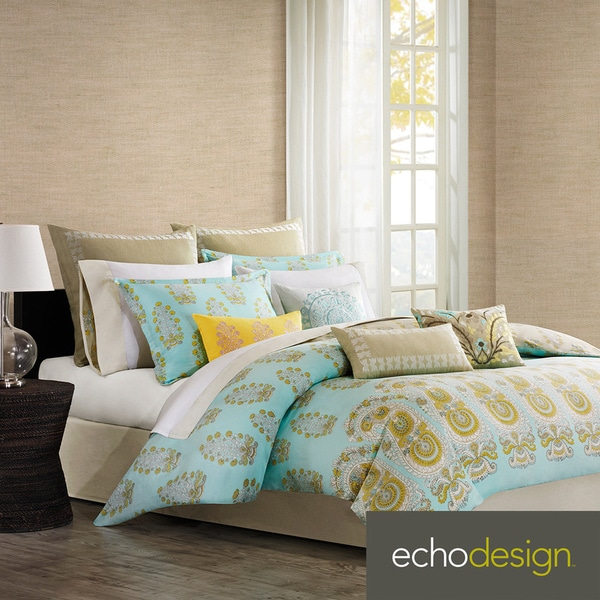 Paros Paisley 4-piece Comforter Set with Optional Euro Sham Sold Separately
