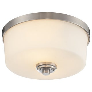 Z-Lite Lamina Brushed Nickel 2-light Flush-mount Light