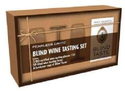 Fearless Critic Blind Wine Tasting Set: Includes Four Iso-certified Wine Tasting Glasses 12cl, 50 Blind Wine Tasting Forms, a...