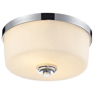 Z-Lite Lamina 2-light Chrome Flush-mount Light