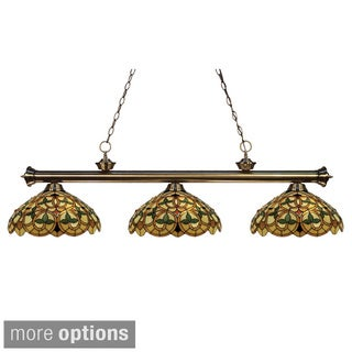 Z-Lite Riviera 3-light Antique Brass Billiard Light
