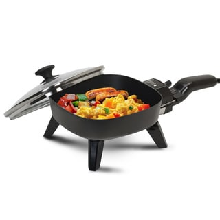 7-inch Nonstick Electric Skillet with Glass Lid
