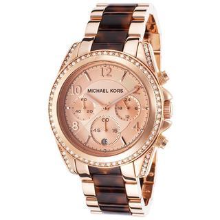 Michael Kors Women's MK5859 Tortoise Rose Goldtone Watch