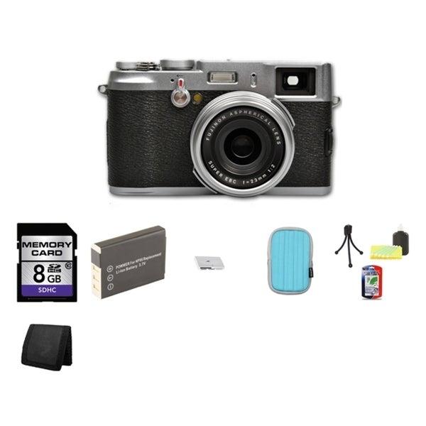 Fujifilm FinePix X100 12.3MP Bridge Digital Camera 8GB Bundle