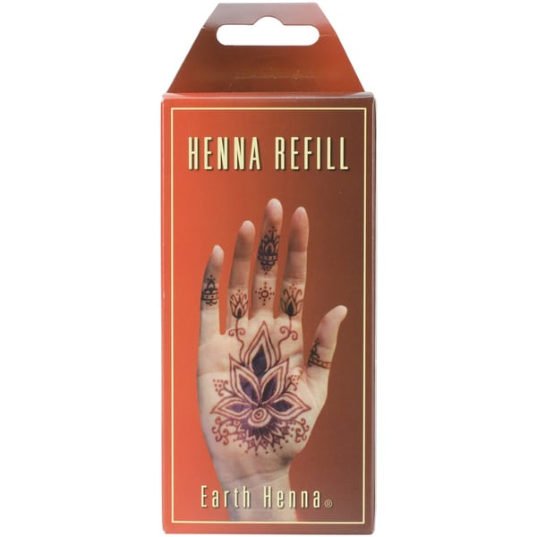 Jacquard Mehndi Henna Kit : Earth henna body painting kit refill orange