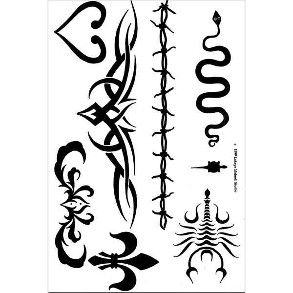 Earth Jagua Stencil Transfer Pack-Tribal