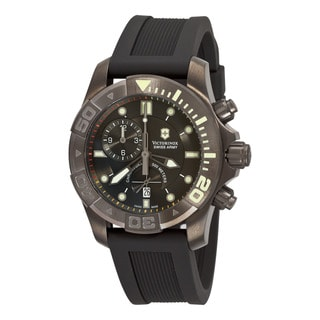Swiss Army Men's 241421 'Dive Master' Black Dial Black Rubber Strap Watch