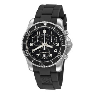 Swiss Army Men's 241431 'Maverick' Black Dial Black Rubber Strap Quartz Watch