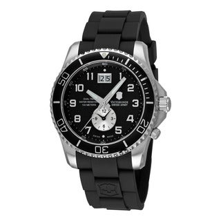 Swiss Army Men's 241440 'Maverick' Black Dial Black Rubber Strap Dual Time Watch
