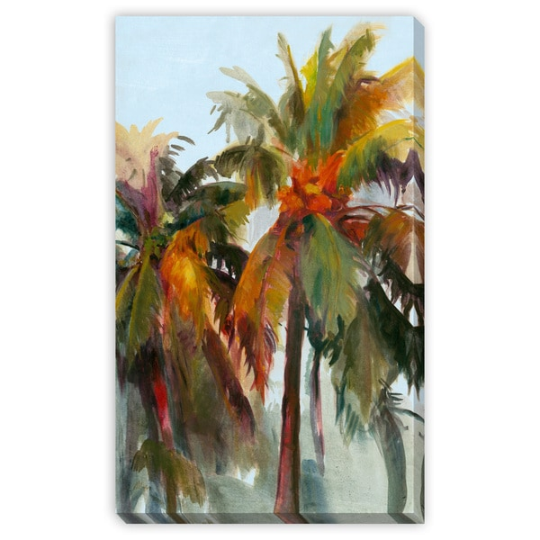 Sunset Palm Canvas Gallery Wrap Art