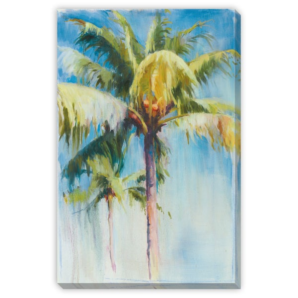 Blue Palm Canvas Gallery Wrap