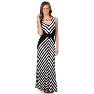 Calvin Klein Women's Sleeveless V-neck Maxi Dress