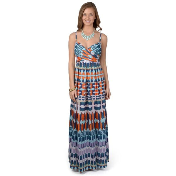 Jessica Simpson Women's Sleeveless Printed Maxi Dress