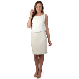 Vince Camuto Women's Pleated Blouson Dress