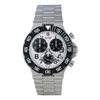 Swiss Army Men's 241339 'Summit XLT' White Dial Stainless Steel Quartz Watch