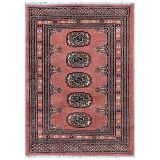 Pakistani Hand-knotted Bokhara Rust/ Ivory Wool Rug (2'2 x 2'11)