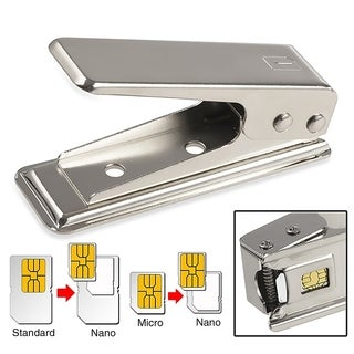 INSTEN Micro/ Standard to Nano SIM Card Cutter for Cellphone Tablet