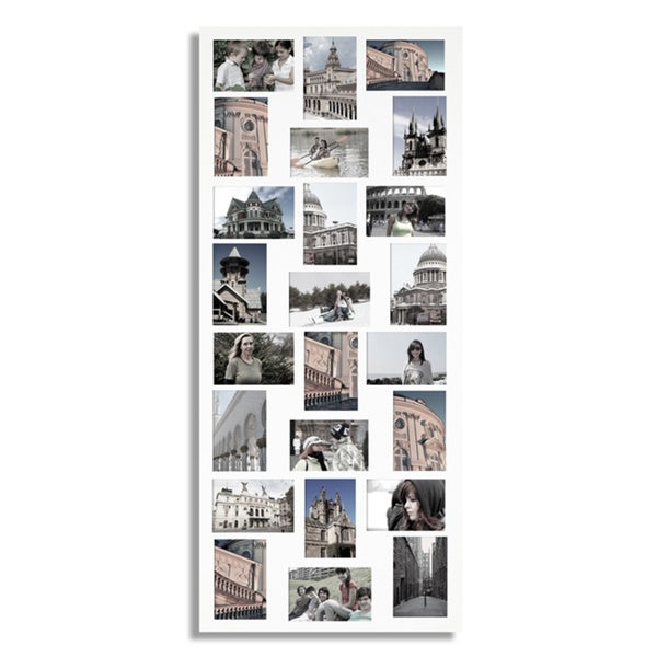 White 24-opening Collage Picture Frame