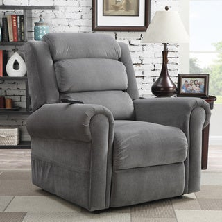At Home Designs Murphy Frosted Grey Power Lift Recliner