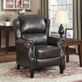 At Home Designs Berkshire Mocha Leather Recliner