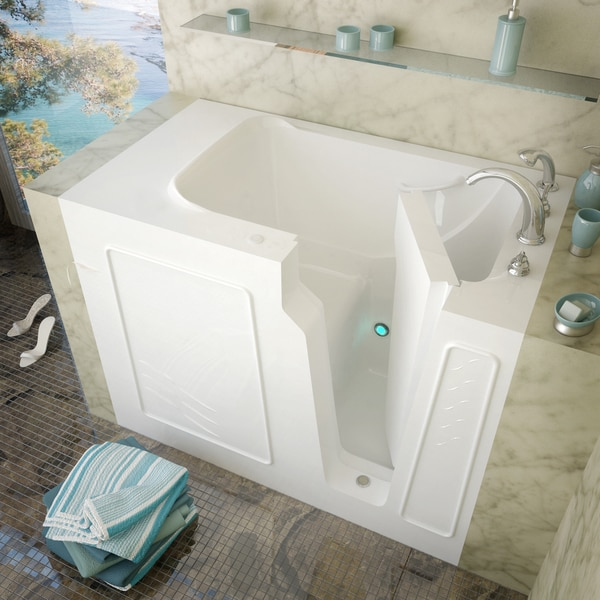 Mountain Home 29x52 Right Drain White Soaker Walk-in Bathtub