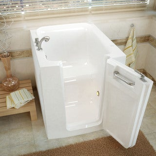 Mountain home 32x38 right drain white soaker walk in bathtub for How deep is a normal bathtub