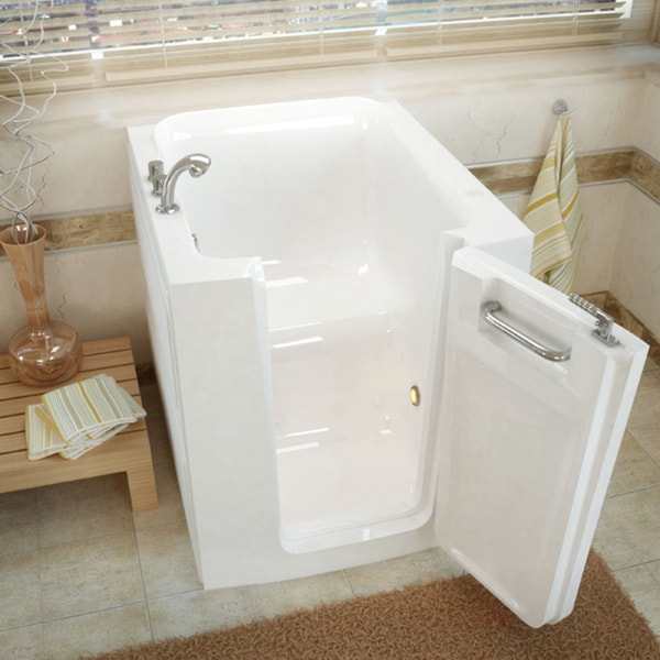 Mountain Home 32x38 Right Drain White Soaker Walk-in Bathtub