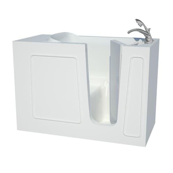 Explorer Series 26x53 Right Drain White Soaker Walk-in Bathtub