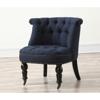 Lily Navy Linen Chair