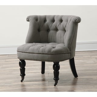 Lily Grey Linen Chair