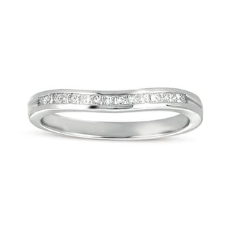 14k White Gold 1/4ct TDW Princess Channel-set Diamond Wedding Band (H-I, I1-I2)