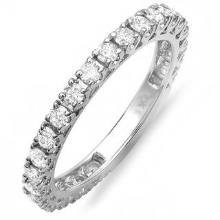 14k White Gold 1ct TDW Round Diamond Anniversary Wedding Band (H-I, I1-I2)