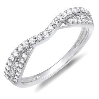 14k White Gold 3/8ct TDW Braided Diamond Wedding Band (H-I, I1-I2)
