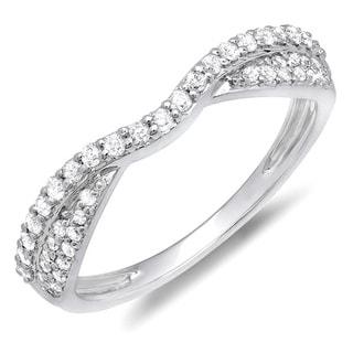 14k White or Rose Gold 3/8ct TDW Braided Diamond Wedding Band (H-I, I1-I2)
