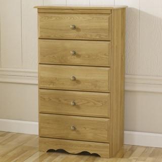 Oak Creek 5-drawer Wood Chest