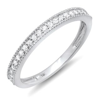 14k White Gold 1/4ct TDW Diamond Anniversary Wedding Band