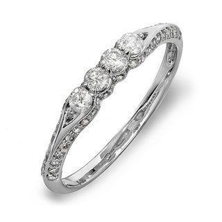 14k White Gold 1/2ct TDW Round Diamond Promise Ring (H-I, I1-I2)