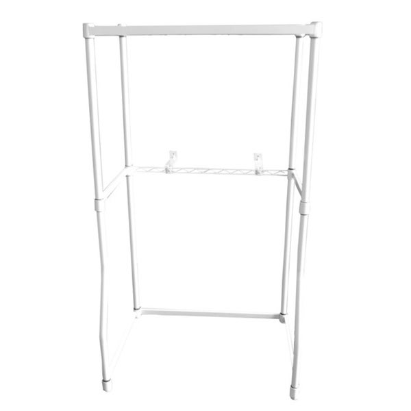 Equator White Metal Dryer Stack Rack