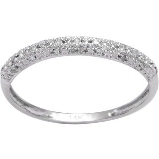 14k White Gold 1/10ct TDW Diamond Wedding Band (I-J, I2-I3)