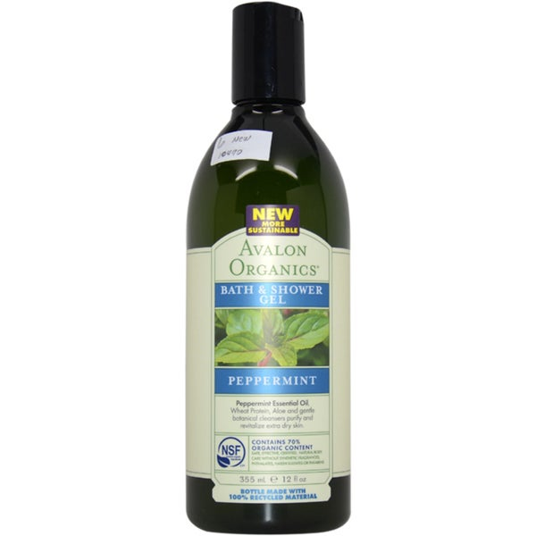 Avalon Organics 12-ounce Peppermint Bath and Shower Gel