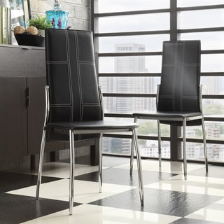 INSPIRE Q Ira Black Metal High-back Contoured Dining Chair (Set of 2)