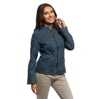 Women's RS Indigo Laced Sleeve Denim Jacket