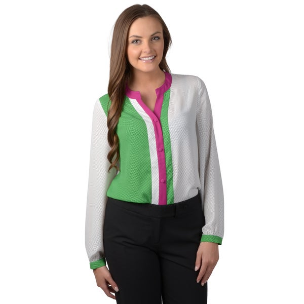Journee Collection Women's Long Sleeve Button-up Top